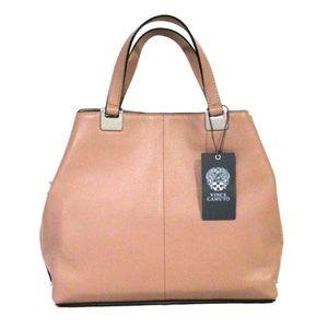 Vince Camuto Rosie Pebbled Leather Satchel Bag